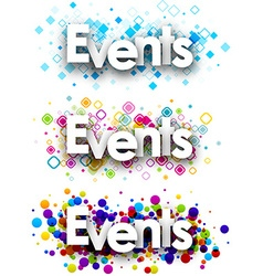 Events colour banners vector