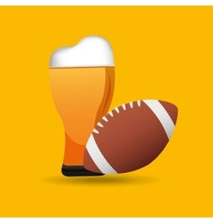 Fathers day beer football trophy icons vector
