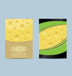 Flyer cheese banner vector