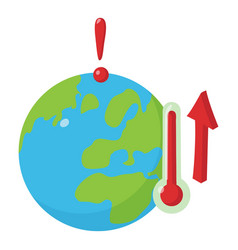 global warming icon isometric style vector image