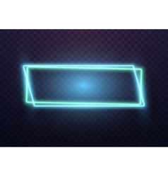 Glowing vintage neon frame template vector