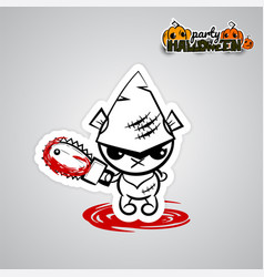 Halloween evil bearvoodoo doll pop art comic vector