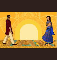 Indian fashion set vector