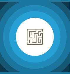 isolated maze flat icon labyrinth element vector image
