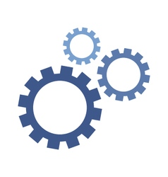 Mechanical cogs icons working together vector
