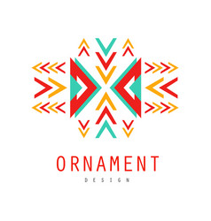 ornament logo design colorful ornate pattern with vector image vector image