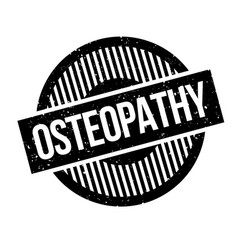 Osteopathy rubber stamp vector