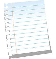 Page of notebook vector image