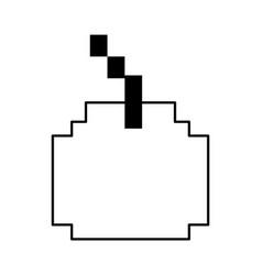 Pixel cherry fruit icon image vector