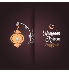 ramadan kareem greeting card design background vector image