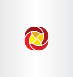 red yellow flower business tech logo icon sign vector image vector image