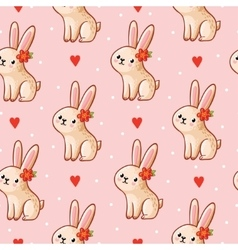 seamless pattern with cute vector image