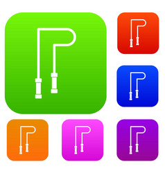 Skipping rope set collection vector