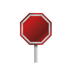stop sign empty blank vector image vector image