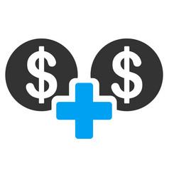 Sum money flat icon vector