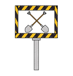 traffic signal isolated icon vector image vector image
