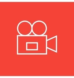 Video camera line icon vector