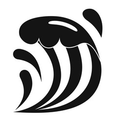 Wave icon simple style vector