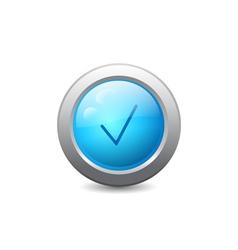 Web button with check mark vector