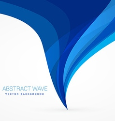 Blue wave flowing from bottom to top design vector