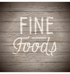 Hand drawn lettering slogan for food vector image