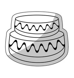 wedding cake sweet outline vector image