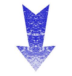 Arrow down grunge textured icon vector