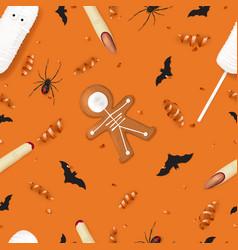 halloween festive seamless pattern vector image