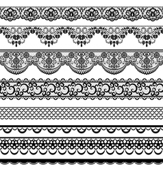 lace border set vector image