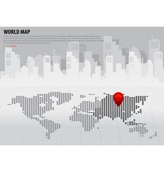 World map with continents asia vector