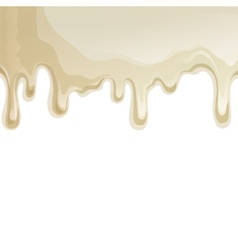 White chocolate drips background vector image