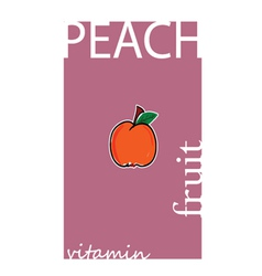 Peach fruit color vector