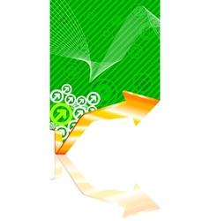 3d progress line vector image