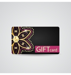 Abstract beautiful diamond gift card design vector
