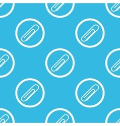 Paperclip sign blue pattern vector