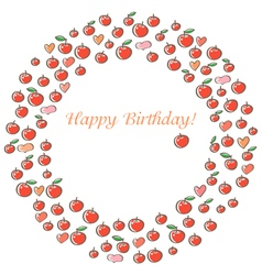 Apple happy birthday vector