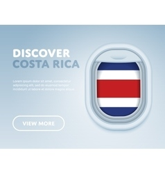 Traveling by plane Flat design banner vector image