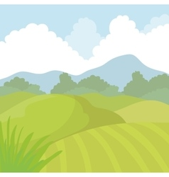 Agriculture icon Landscape concept vector image vector image