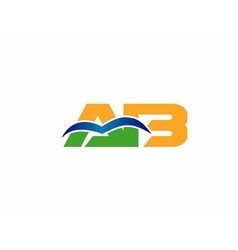 Ba company group linked letter logo vector