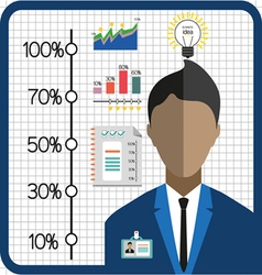 Business infographic with icons person charts and vector