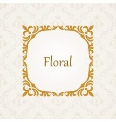 Calligraphic frame vintage elegant text vector image vector image