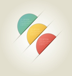 Circle Infographic Background with Sample Text vector image vector image