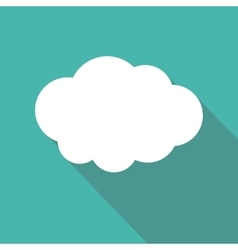 Cloud flat icon cloud shape symbol vector