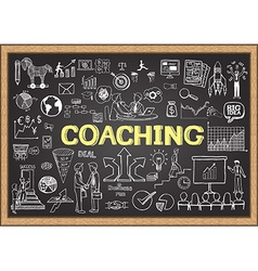 Coaching on chalkboard vector