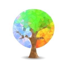 Crystal tree seasons vector image