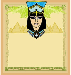 Egyptian queen cleopatra frame vector