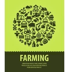 farming logo design template farm or vector image