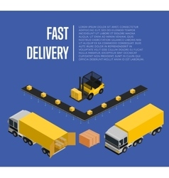 Fast delivery isometric concept vector