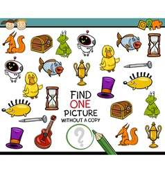 Find single picture game cartoon vector