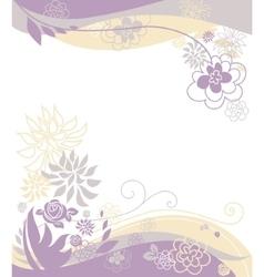 Floral pastel background vector